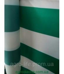 Палаточная ткань 135Т, бело-зеленая