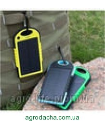 Портативное зарядное Power Bank Solar Charger UKC 10800mAh +12smd led,