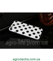 Чехол-накладка Polka Dot Silicon Soft TPU Cover Cases White-Black для iPhone 6/6s, Винница
