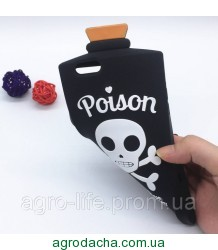 3D Terrorist Scull Cover Chill Pills Poison Soft Silicon Case Pink для iPhone 6/6S