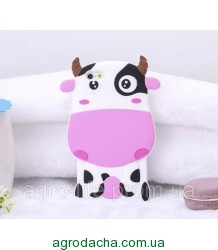 Чехол силиконовый3D Cartoon Cute White Cow Soft Silicon Case для iPhone 6/6S
