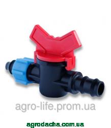 Кран с поджимом Presto-PS для трубки, 16 мм. (OV-0516)