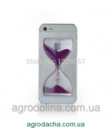 Liquid Crystal Clear Sand Clock Cover Case Purple для iPhone 6/6S