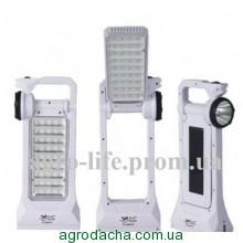 Лампа светодиодная аккумуляторная+солнечная панель YAJIA YJ - 6851, Винница