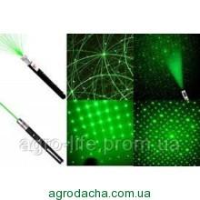 Мощная лазерная указка зеленый луч + 5 насадок