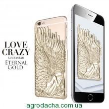 Чехол накладка для iPhone 6/6s Luxury Gold Angel Wings