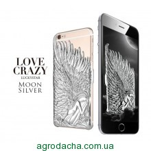 Чехол накладка для iPhone 6/6s Luxury Silver Angel Wings
