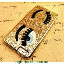 Чехол-накладка Flirting Eyes Glitter Briliant Gold для iphone 6 plus плюс