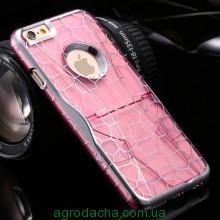 Чехол для iPhone 5/5S Luxury Hard Geometry Water Cube Pink