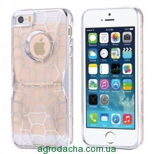 Чехол для iPhone 5/5S Luxury Hard Geometry Water Cube Clear