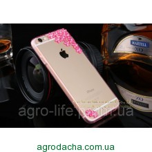 Чехол накладка для iPhone 5/5S Sakura Flowers Crystal Rhinestone Bling Pink , Винница