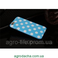 Чехол-накладка Polka Dot Silicon Soft TPU Cover Cases Blue для iPhone 6/6s, Винница
