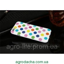 Чехол-накладка Polka Dot Silicon Soft TPU Cover Cases Multicolour для iPhone 6/6s, Винница