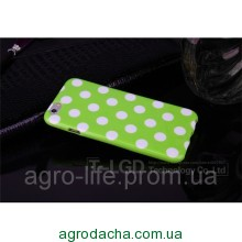 Чехол-накладка Polka Dot Silicon Soft TPU Cover Cases Green для iPhone 6/6s, Винница