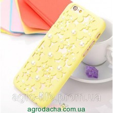 Чехол-накладка 3D Flower Candy Colour Pearl Yellow для iphone 6 plus плюс