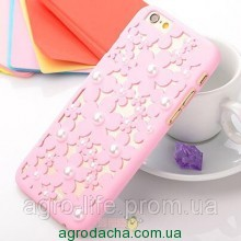 Чехол-накладка 3D Flower Candy Colour Pearl Pink для iphone 6 plus плюс