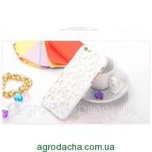 Чехол-накладка 3D Flower Candy Colour Pearl White для iphone 6 plus плюс