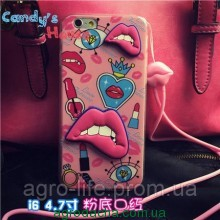 Чехол-накладка Luxury Fashion Three-dimentional Sexy Lips Case  для iPhone 6/6s, Винница