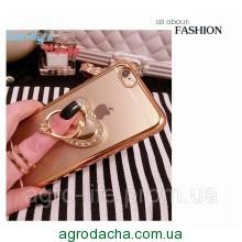 Чехол-накладка Hard Pling DiamonC Bd Ring Gold Luxury Case для iPhone 6/6s, Винница