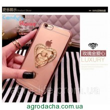 Чехол-накладка Hard PC Bling Diamond Ring Rose Gold Luxury Case для iphone 6 plus плюс