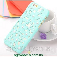 Чехол-накладка 3D Flower Candy Colour Pearl Mint для iphone 6 plus плюс