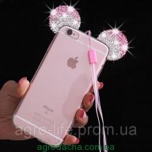Чехол-накладка силиконовый Diamond Mickey Ears для iPhone 6/6S Pink , Винница