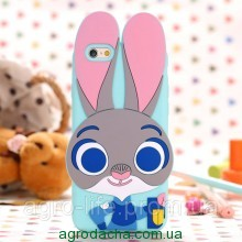 Чехол силиконовый Zootopia Rabbit Judy City 3D Cartoon для iPhone 5/5s