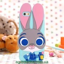 Чехол силиконовый Zootopia Rabbit Judy City 3D Cartoon для iPhone 6 plus плюс