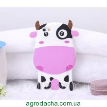 Чехол силиконовый 3D Cartoon Cute White Cow Soft Silicon Case для iPhone 5/5s