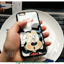 Чехол силиконовый 3D Mickey Mouse Kiss Glass Silicone Mirror Case для iPhone 6/6S