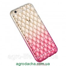 Luxury Gradient Rhinestone Case Pink для iPhone 5/5s
