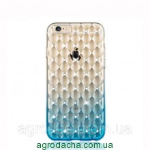 Luxury Gradient Rhinestone Case Blue для iPhone 5/5s