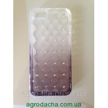 Luxury Gradient Rhinestone Case Purpl для iPhone 5/5s
