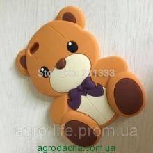 3D Cute Cartoon Teddy Bear Bowknot Soft Silicon Case для iPhone 5/5S