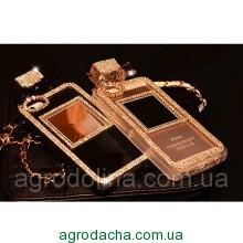 Rhinestone Diamond Perfume Bottle Case Black для iPhone 6/6S Plus