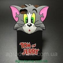 Cute 3D Cartoon Cat Tom Soft Silicone Case для iPhone 5/5s