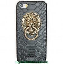 Чехол-накладка Lion Metal Ring для iPhone 5/5S черный