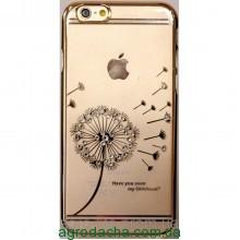Чехол-накладка пластик Hallsen Blowball Gold для iPhone 6/6s, Винница