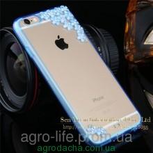 Чехол-накладка Sakura Flowers Crystal Rhinestone Bling Blue для iPhone 6/6s, Винница