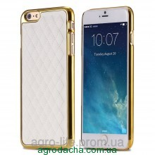 Чехол-накладка Gold Luxury Grid Leather Case для iPhone 6/6s, Винница