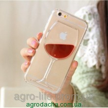 Чехол накладка Red Wine Cup Liquid Transparent Case для iPhone 4/4S, Винница