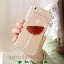 Чехол накладка Red Wine Cup Liquid для iPhone 6, Винница