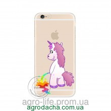 Cute Hippo Rainbow Unicorn Horse Clear Plastic Case Back Cover для iPhone 6/6S Plus