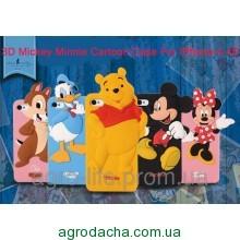 Чехол силиконовый Winnie Pooh для iPhone 5/5s Yellow
