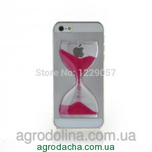 Liquid Crystal Clear Sand Clock Cover Case Rose для iPhone 5/5s