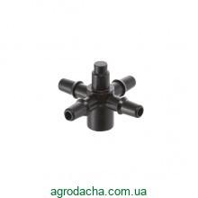 Адаптер для капельниц Presto-PS на 4 выхода для капельной трубки 3,5 мм, в упаковке - 10 шт. (5135)