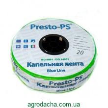Капельная лента Presto-PS щелевая Blue Line отверстия через 20 см, расход воды 2,4 л/ч, длина 500 м (BL-20-500)