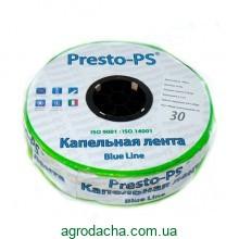 Капельная лента Presto-PS щелевая Blue Line отверстия через 30 см, расход воды 2,7 л/ч, длина 500 м (BL-30-500)