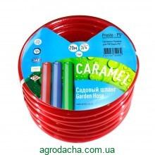 Шланг для полива Evci Plastik Софт Силикон (Caramel красный) садовый диаметр 3/4 дюйма, длина 20 м (SE-3/4 20)