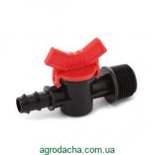 Кран шаровый Presto-PS с наружной резьбой 3/4 дюйма для трубки 16 мм (TV-013416)